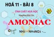 Tính chất hoá học, cấu tạo phân tử của Amoniac NH3, Muối Amoni - hoá 11 bài 8